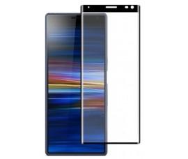 Полноклеющийся защитное стекло для Sony Xperia 10 plus c черными краями