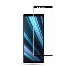 Полноклеющиеся защитное стекло 3D с черными линиями для Sony Xperia 1