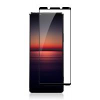 Полноклеющиеся защитное стекло с черными линиями для Sony Xperia 1 II
