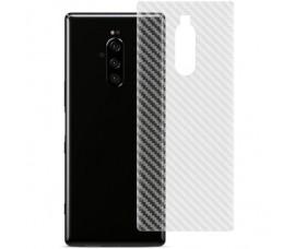 Прозрачная карбоновая пленка на заднюю крышку для Sony Xperia 1