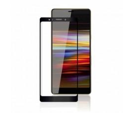 Защитное стекло с полным клеем для Sony Xperia L3 с черными линиями