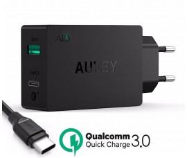 Быстрое зарядное устройство Aukey Turbo PA-Y2 (2 портовый)