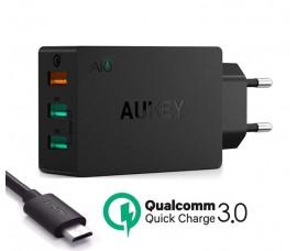 Быстрое зарядное устройство Aukey Turbo PA-T14 (3 портовый)