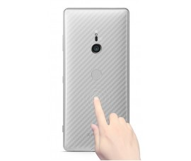 Прозрачная карбоновая пленка на заднюю крышку для Sony Xperia XZ3