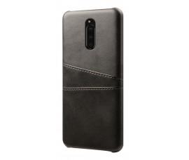 Кожаный чехол со слотами для карт для Sony Xperia 1 (Черный)