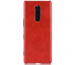 Кожаный чехол для Sony Xperia 1 (Красный)
