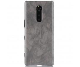 Кожаный чехол для Sony Xperia 1 (Серый)