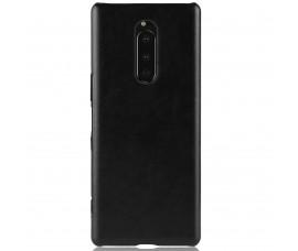 Кожаный чехол для Sony Xperia 1 (Черный)