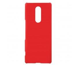 Пластиковый матовый чехол для Sony Xperia 1 (Красный)