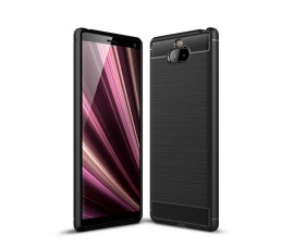 Чехол Carbon Fibre для Sony Xperia 10 Plus (Черный)