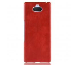 Кожаный чехол для Sony Xperia 10 Plus (Красный)