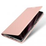 Кожаный чехол Dux Ducis Pro для Sony Xperia 10 Plus (Розово-золотистый)