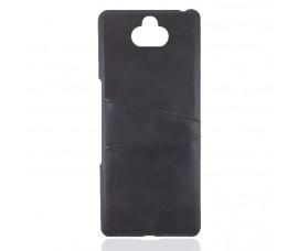 Кожаный чехол со слотом для карт для Sony Xperia 10 Plus (Черный)