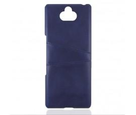 Кожаный чехол со слотом для карт для Sony Xperia 10 Plus (Синий)