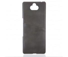 Кожаный чехол со слотом для карт для Sony Xperia 10 Plus (Серый)
