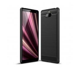 Чехол Carbon Fibre для Sony Xperia 10 (Черный)