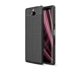 Чехол под текстуру для Sony Xperia 10 (Черный)