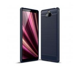 Чехол Carbon Fibre для Sony Xperia 10 (Темно-синий)