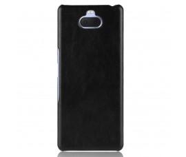 Кожаный чехол для Sony Xperia 10 (Черный)