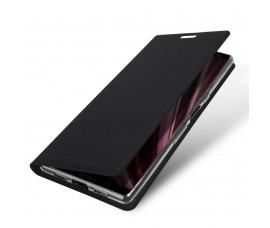 Кожаный книжка чехол с магнитом DUX DUCISS для Sony Xperia 10 (Черный)