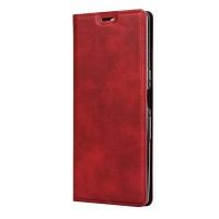 Кожаный книжка чехол с магнитом для Sony Xperia 10 (Красный)