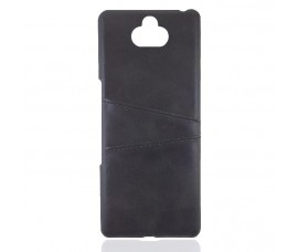 Кожаный чехол со слотом для карт для Sony Xperia 10 (Черный)