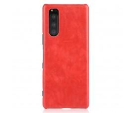 Кожаный чехол для Sony Xperia 5 (Красный)