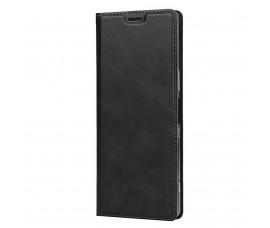 Кожаный чехол с магнетиком для Sony Xperia 5 (Черный)