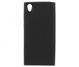 Чехол под карбон для Sony Xperia L1 (Черный)