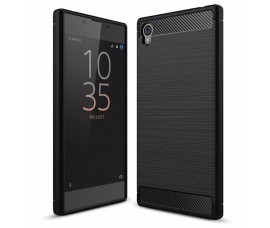 Чехол для Sony Xperia L1 Carbon Fibre (Черный)