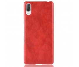 Кожаный чехол для Sony Xperia L3 (Красный)