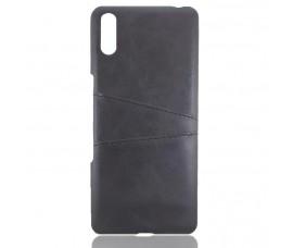 Кожаный чехол для Sony Xperia L3 (Черный)
