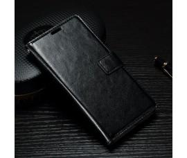 Кожаный чехол книжка для Sony Xperia XA1 (Черный)