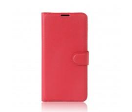 Кожаный чехол с карманами для Sony Xperia XA1 Ultra (Красный)