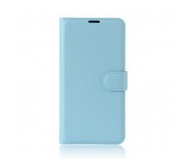 Кожаный чехол с карманами для Sony Xperia XA1 Ultra (Ярко голубой)