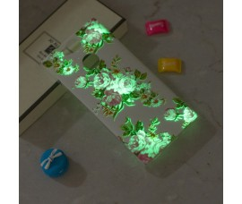 Светящийся чехол с цветами для Sony Xperia XA2