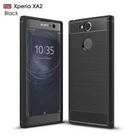 Чехол для Sony Xperia XA2 Carbon Fibre (Черный)