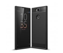 Чехол для Sony Xperia XA2 Plus Carbon Fibre (Черный)