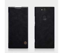Кожаный чехол Nillkin Qin для Sony Xperia XA2 Plus (Черный)