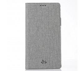 Кожаный чехол с магнетиком Vili Dmx для Sony Xperia XA2 Ultra (Серый)