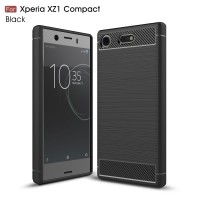 Чехол для Sony Xperia XZ1 Compact Carbon Fibre (Черный)