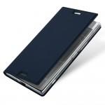 Кожаный чехол DUX DUCIS Pro для Sony Xperia XZ1 (Синий)