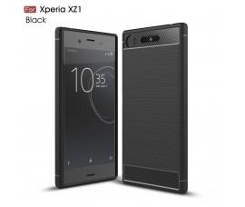 Чехол для Sony Xperia XZ1 Carbon Fibre (Черный)
