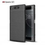 Чехол для Sony Xperia XZ1 под кожу (Черный)