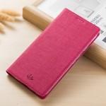 Кожаный чехол VILI DMX для Sony Xperia XZ1 c магнетиком (Розовый)