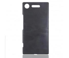 Кожаный чехол со слотом для карт для Sony Xperia XZ Premium (Черный)