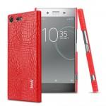 Кожаный чехол IMAK для Sony Xperia XZ Premium (Красный)