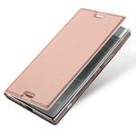 Кожаный чехол DUX DUCIS для Sony Xperia XZ Premium (Розово-золотистый)