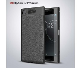 Чехол под текстуру для Sony Xperia XZ Premium (Черный)
