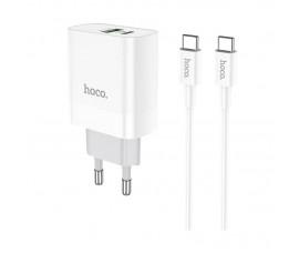 Быстрая зарядка Hoco с двойным портом и кабелем 5А (Quick Charge 3.0 и PD)